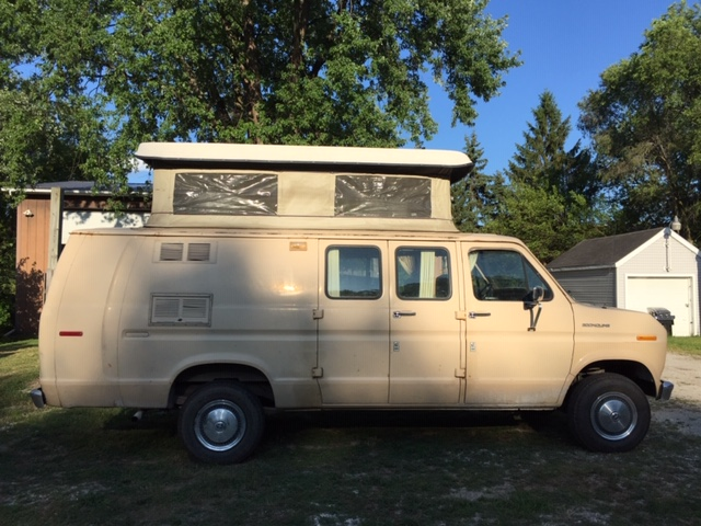 Econoline Van with pop-up top ready to Customize – ConversionTrader com